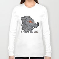 the hound Long Sleeve T-shirts featuring Space Hound by LyShark
