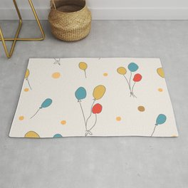 Cute Pattern with colorful air Balloons Rug
