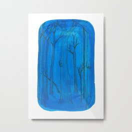 trees on phthalo blue #1 Metal Print