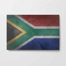 Vintage Grunge flag of South Africa Metal Print