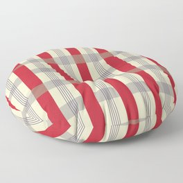 Red Striped Plaid Floor Pillow