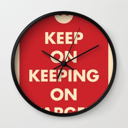Keep On Keeping On Target (Red) Wall Clock