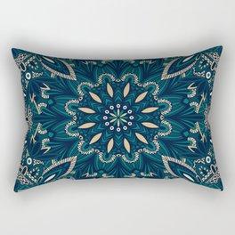Seamless Tribal Mandala Pattern Rectangular Pillow