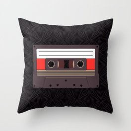 Compact Cassette Throw Pillow