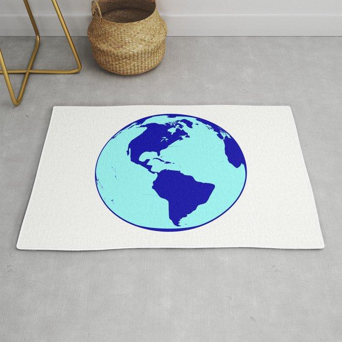 The Americas Globe Rug