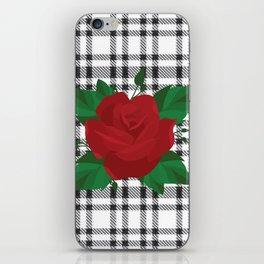 Plaid Rose iPhone Skin