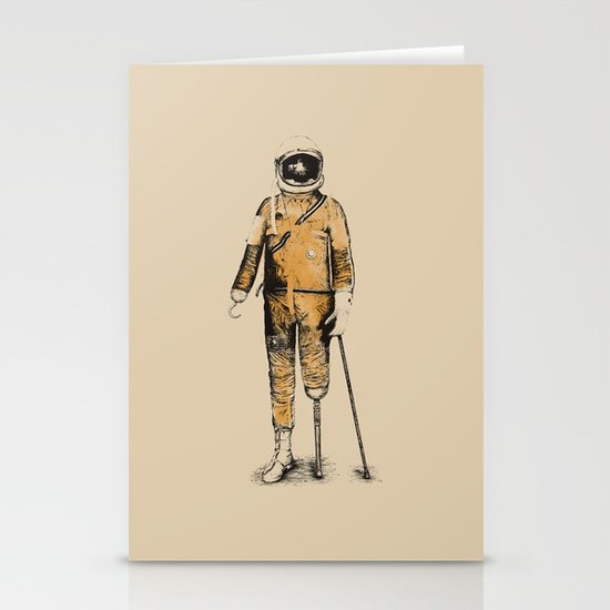 Astropirate (Watercolors) Stationery Cards