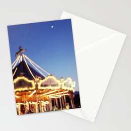 Crescent Moon Over Paris Stationery Cards