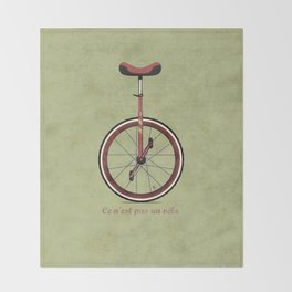 Unicycle Throw Blanket