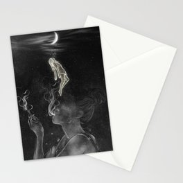 The night cigarette. Stationery Cards