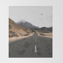 ROAD - BIRD - HILLS Throw Blanket