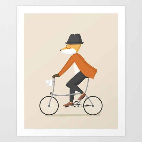 Mr. Fox is on His Way Art Print