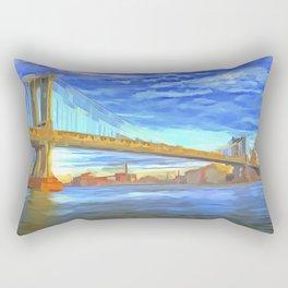 Manhattan Bridge Pop Art Rectangular Pillow