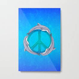 Dolphin Peace Metal Print