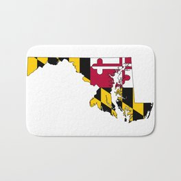 Maryland Map with Flag of Maryland Bath Mat