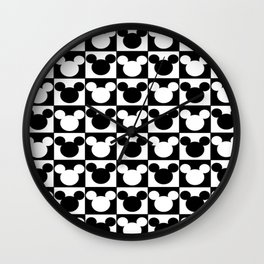 Mickey Mouse - Checkered Head Wall Clock