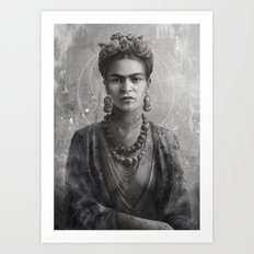 Frida Ink Art Print