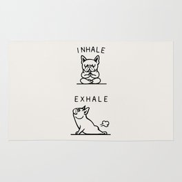 Inhale Exhale Frenchie Rug