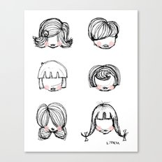 Hairstyles Canvas Print