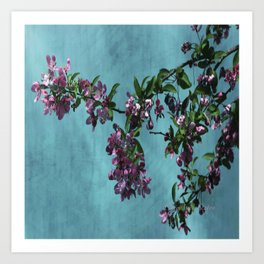 Pink Over Turquoise by CheyAnne Sexton Art Print