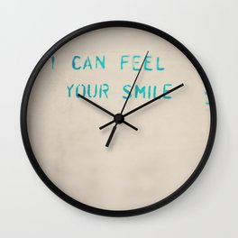 I can feel your smile ... Wall Clock