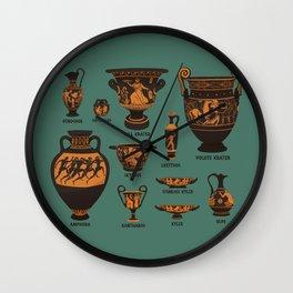 Greek Pottery Wall Clock