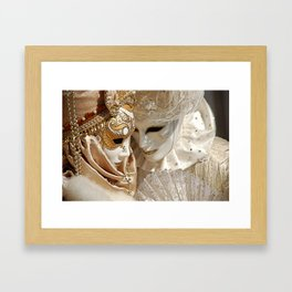 Behind the mask Framed Art Print