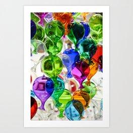 Colourful Glass Balloons   Venice Art Print