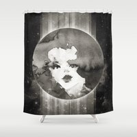planet Shower Curtains featuring Planet by Ozghoul