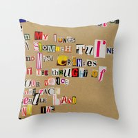 cigarettes Throw Pillows featuring Stale Cigarettes by Maison Fioravante - Fine Artist