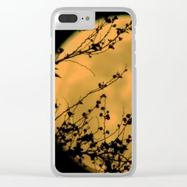 Lunar Petals Clear iPhone Case