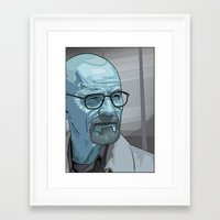 walter white Framed Art Prints featuring Walter by Digital Sketch
