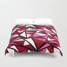 Abstract geometric triangles pattern . 6 Duvet Cover
