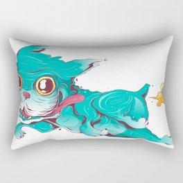 Bull dog crazy and farter Rectangular Pillow