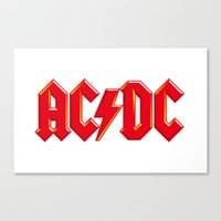 acdc Canvas Prints featuring ACDC by loveme