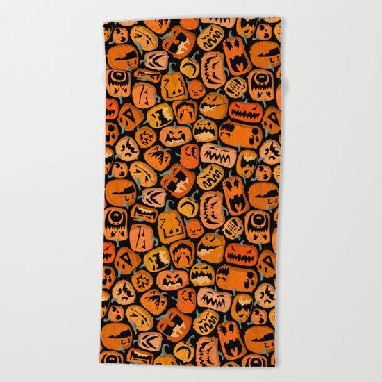 Pumpkin Brawl. Beach Towel