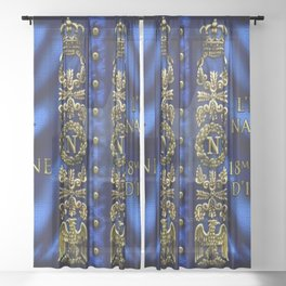 Vintage 18th Regiment French Battle Flag of Napoleon III Sheer Curtain