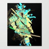 samurai Canvas Prints featuring Samurai by Kent Floris