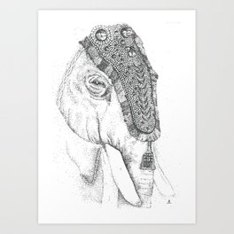 Thrissur Pooram, India Art Print
