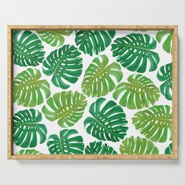 Monstera Leaves Serving Tray