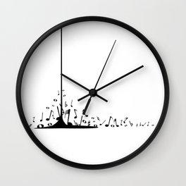 Pouring Musical Notes Wall Clock