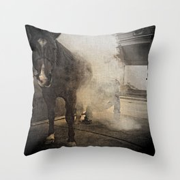 Hot Shoeing Throw Pillow