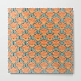 Deco Shells Metal Print