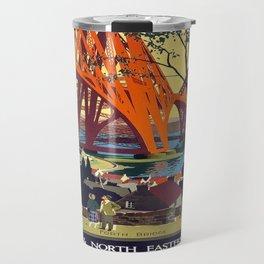 Vintage poster - Forth Bridge Travel Mug