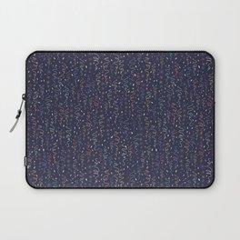 Dark Party Streamers Vector Pattern Laptop Sleeve