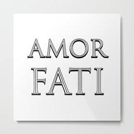 AMOR FATI - Stoicism Metal Print