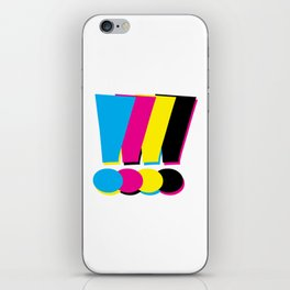CMYK Exclamation Points iPhone Skin