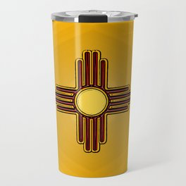 Fancy Flag:  New Mexico Travel Mug