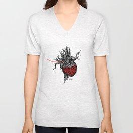 Wired Heart Unisex V-Neck