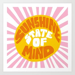Sunshine Vibes Art Print